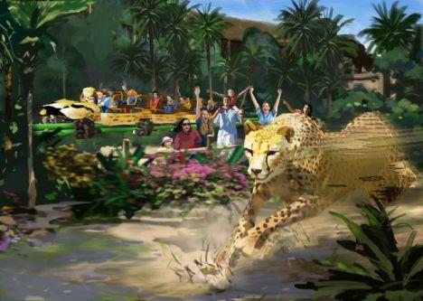 Busch Gardens Tampa Reportage sull'ultimazione di Cheetah Hunt