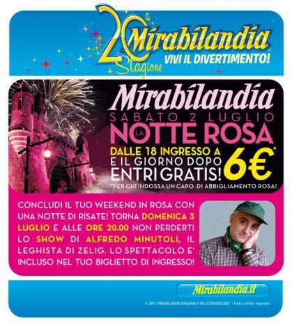 Mirabilandia Ingresso a 6 euro per la Notte Rosa