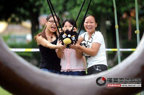 Cina - Il gioco di Angry Birds dal vivo