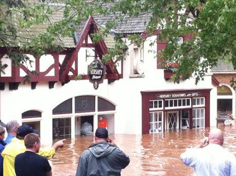 Hershey Park Alluvione in Pennsylvania, allagati diversi parchi a tema