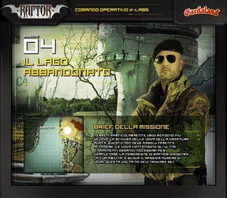 Gardaland Online la quarta missione: il lago abbandonato