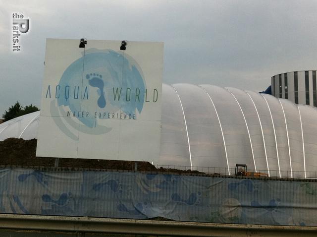 Acquaworld (Concorezzo) I lavori in corso del parco acquatico indoor di Concorezzo
