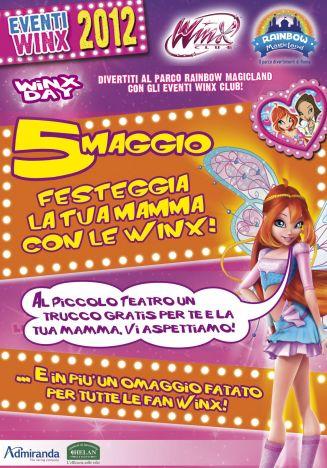 Rainbow MagicLand Festa della mamma: ecco lo sconto dell'evento WINX