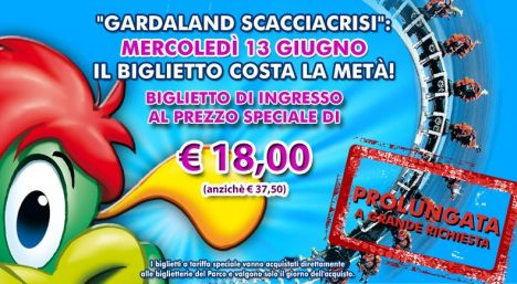 Gardaland Mercoledì 13 Giugno si entra a 18 euro, dal 15 Night is Magic