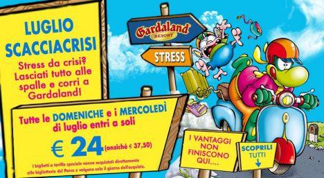 Gardaland A Luglio la promo scaccia-crisi: l'ingresso a 24 euro