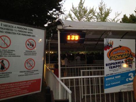 Gardaland Gardaland Express: un sistema inadeguato ed un weekend con maxi-affluenza