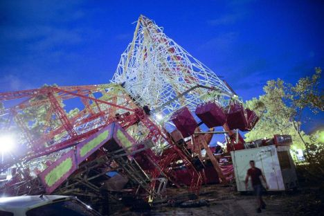 Fiera di Gandia - Cade la ruota panoramica, 35 feriti