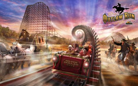 Silver Dollar City Outlaw Run, il video del primo wooden coaster con inversioni
