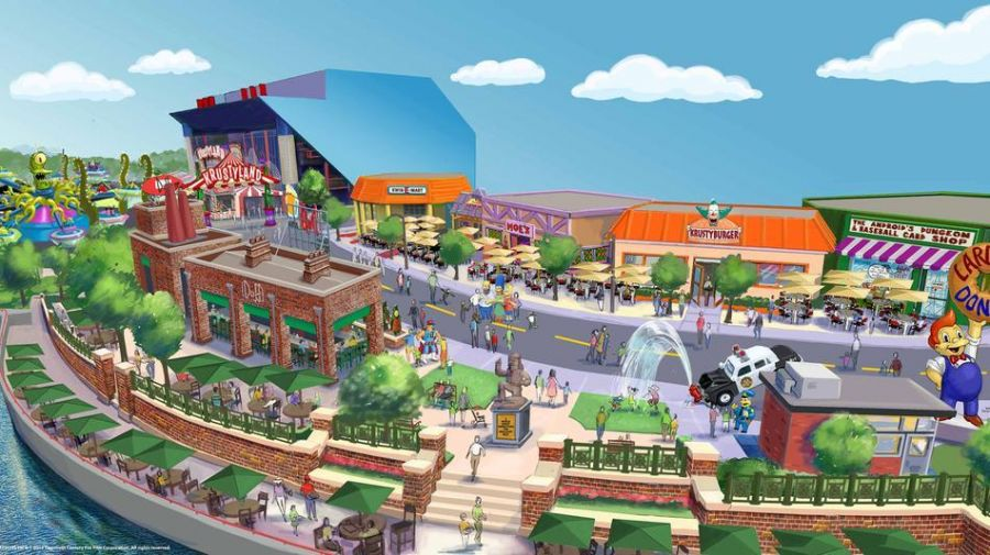 Universal Studios Florida La nuova area dei Simpsons: artworks e video