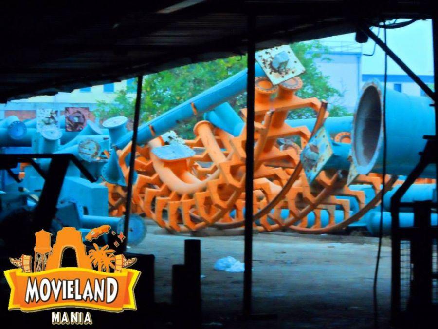 Movieland Park Ecco i binari del Boomerang Vekoma !