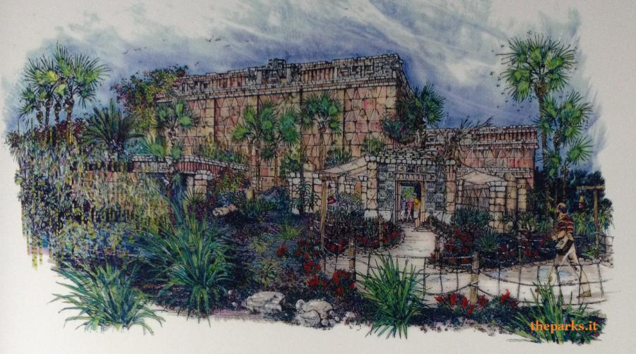 PortAventura Park Gli Artwork di Templo del Fuego