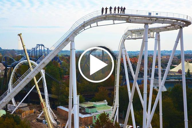 Gardaland Un nuovo video che svela il Dive Coaster 2015