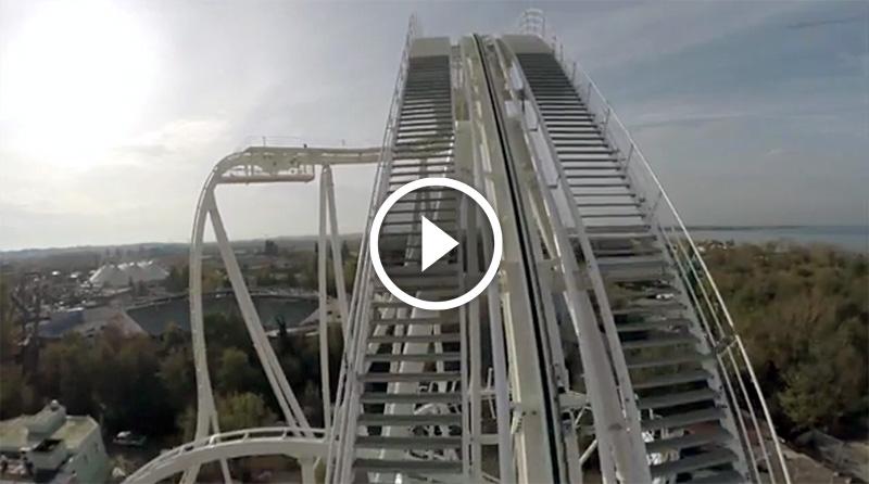 Gardaland Il tracciato del Dive Coaster è completo IL VIDEO !