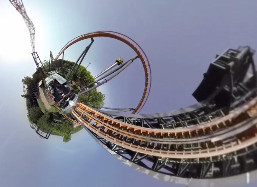 Parque de Atracciones De Madrid Un giro su un coaster a 360 gradi...da casa