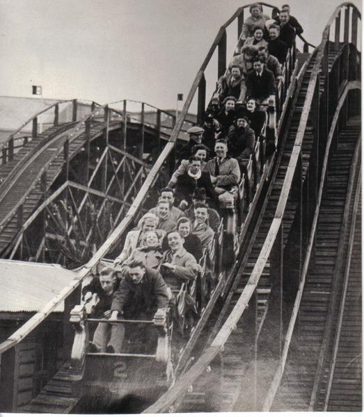Dreamland Margate Crolla per forte vento il coaster più vecchio del Regno Unito