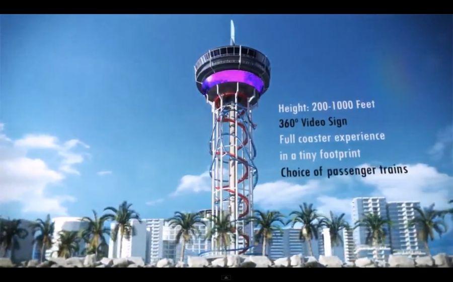 Las Vegas - Il coaster grattacielo