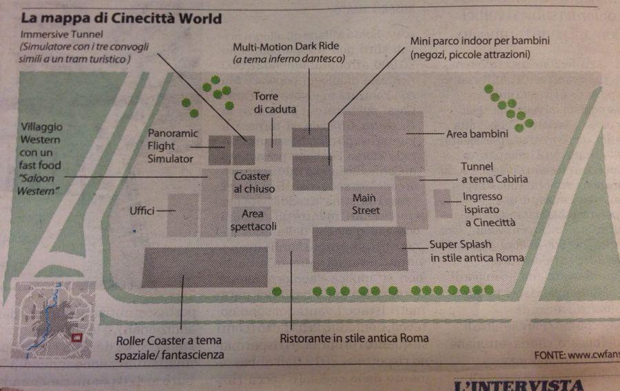 Cinecittà World La mappa del parco: vera o falsa?
