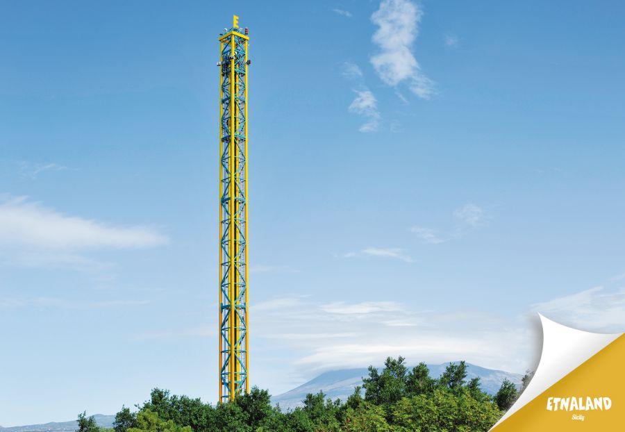 Etnaland Themepark Le prime foto dello Shot&Drop