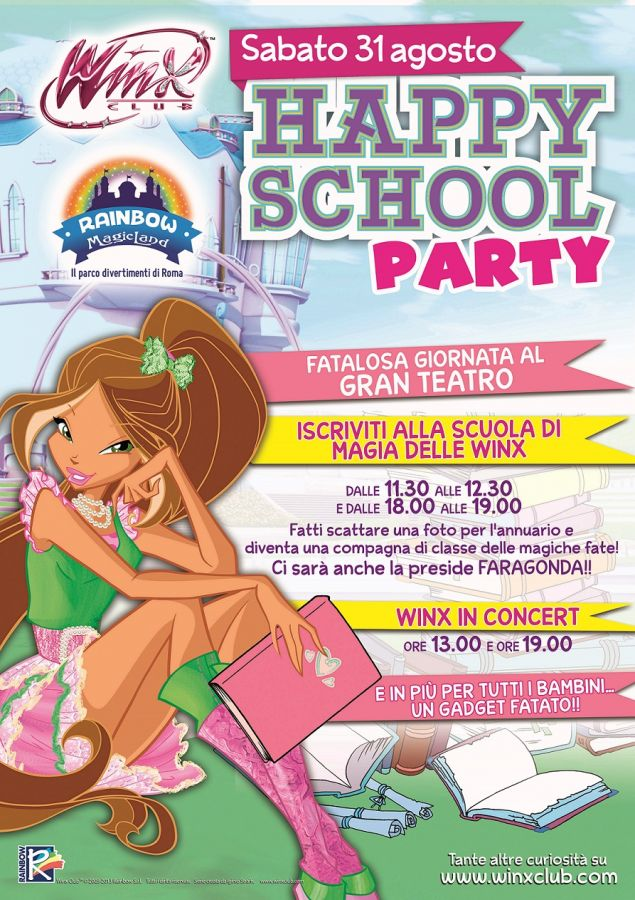 Rainbow MagicLand School Party il 31 Agosto