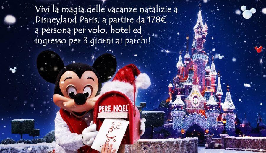 TpTour - Vacanze di Natale a Disneyland Paris a partire da 178€ a persona (volo, hotel ed ingresso per 3 giorni)!