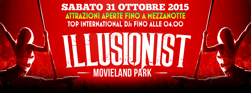 Movieland Park Illusionist Halloween Party 2015