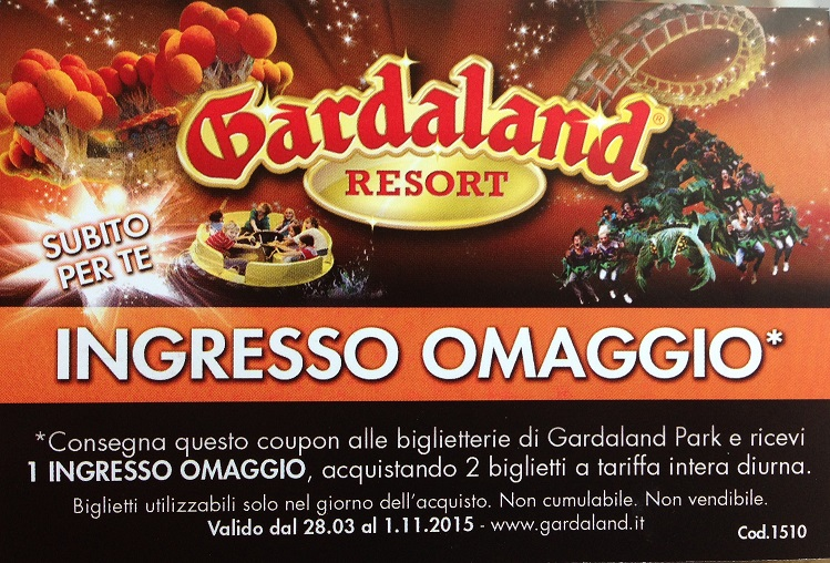 Gardaland 10 buoni sconto, voucher e omaggi per Gardaland