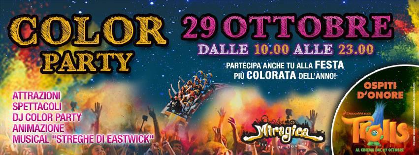 Miragica - La Terra dei Giganti Color Party per Halloween
