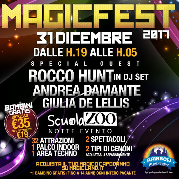 Rainbow MagicLand Capodanno con Damante e Rocco Hunt