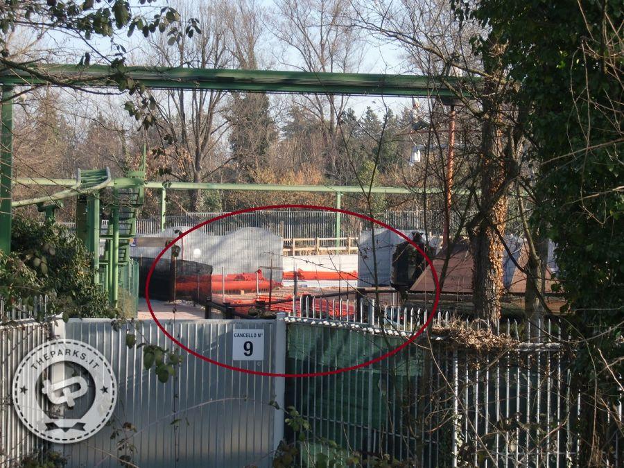 Gardaland Avvistati i supporti rossi del nuovo rollercoaster