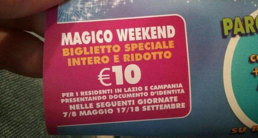Rainbow MagicLand Ingresso a 10 euro per i residenti di Lazio e Campania