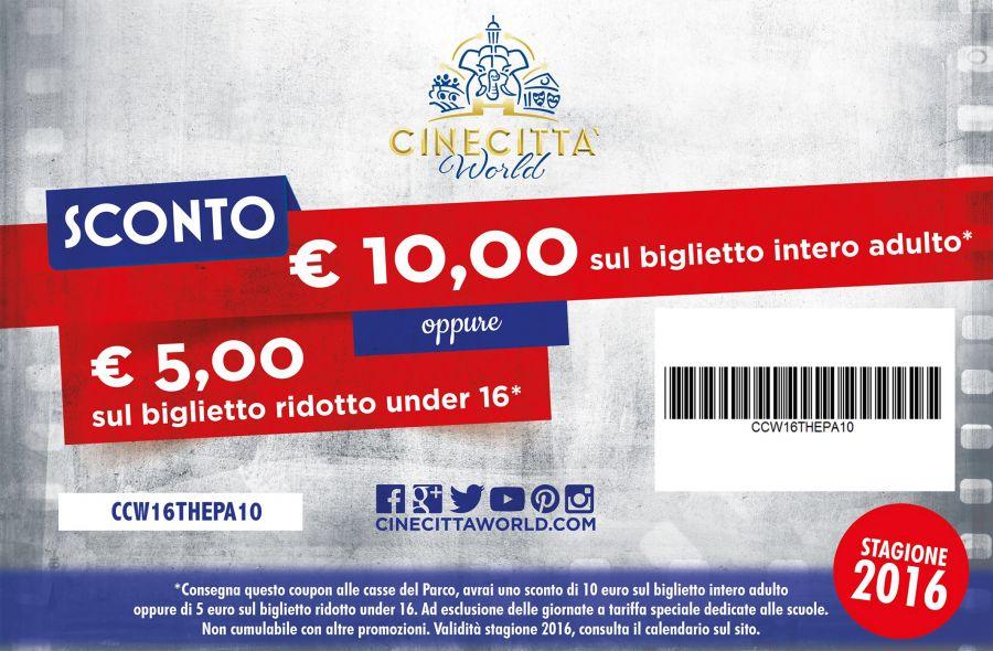 Cinecittà World Sconto di 10 euro con il nostro buono!