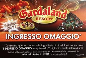 Gardaland - 10 buoni sconto, voucher e omaggi per Gardaland