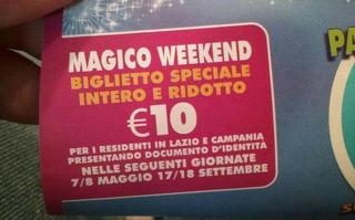 Rainbow MagicLand - Ingresso a 10 euro per i residenti di Lazio e Campania