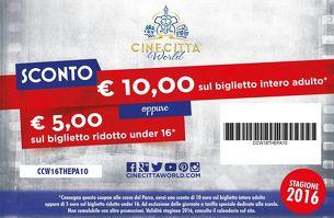 Cinecittà World - Sconto di 10 euro con il nostro buono!