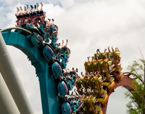 Dueling coaster