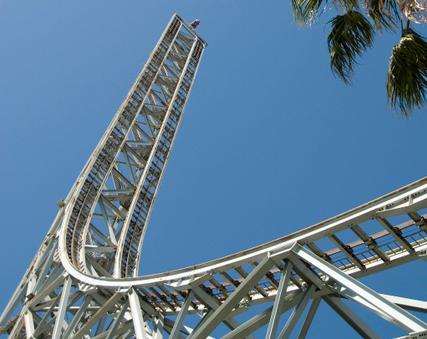 Reverse freefall coaster