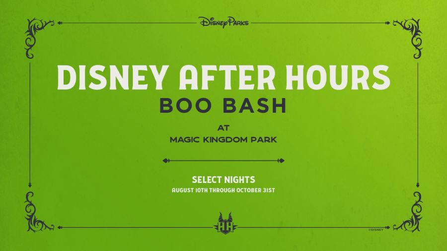 Magic Kingdom BOO BASH AFTERHOURS le serate speciali di Halloween 2021