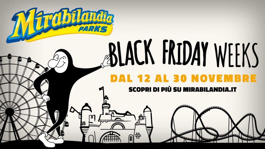Mirabilandia 19 giorni di Black Friday: l'abbonamento costa 39.90