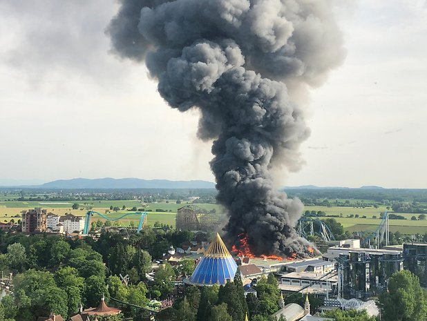 Germania: fiamme all'Europa Park, paura a Rust