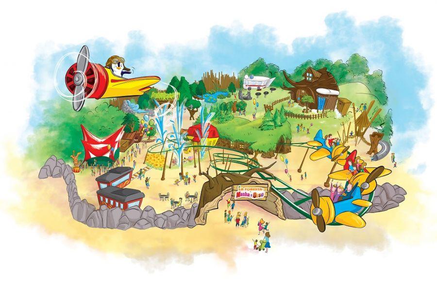 Leolandia Vroom è il kiddie coaster di punta di Masha e Orso
