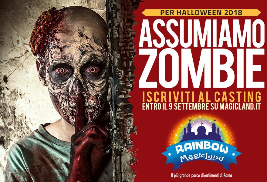 Rainbow MagicLand 150 posti lavoro come zombie per Halloween