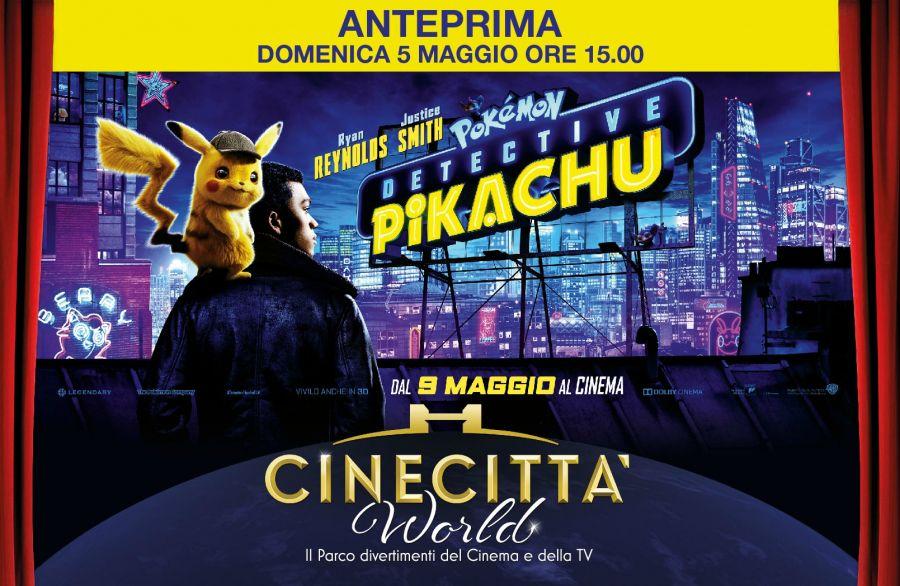 Cinecittà World Il 5 maggio l'anteprima di Pokémon Detective Pikachu