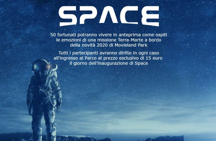 Movieland Park [SPACE] Parte il contest per vincere anteprima sull'attrazione e ingresso omaggio