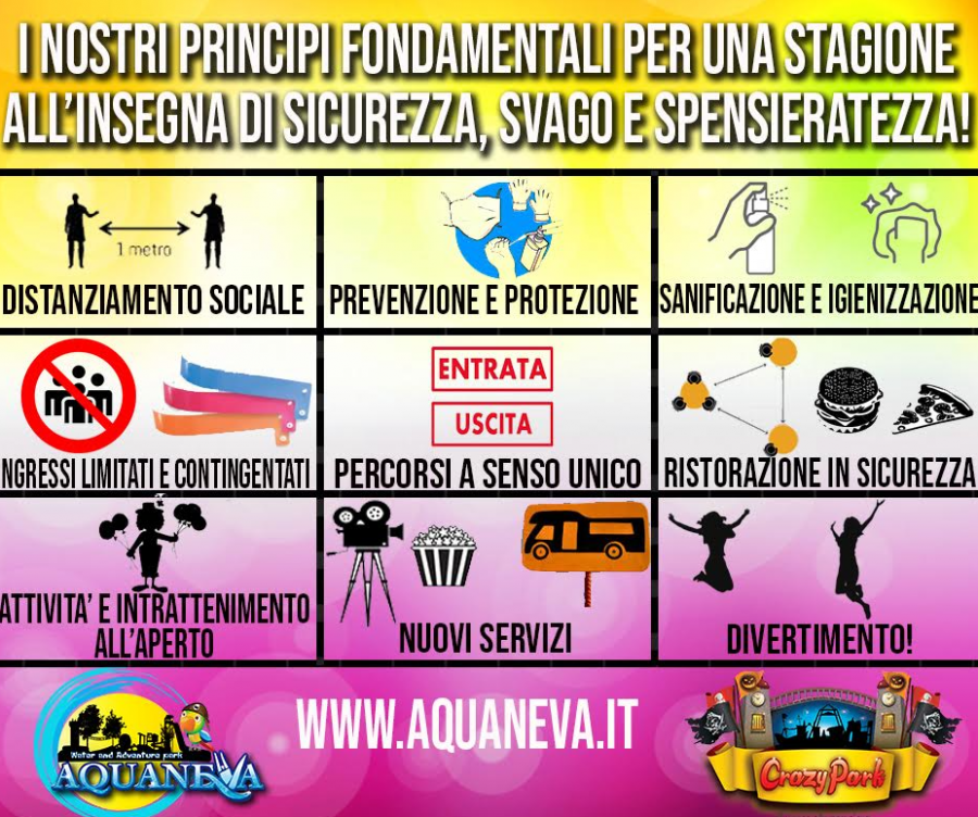 Aquaneva Water & Adventure Park Presentato il piano anti-covid