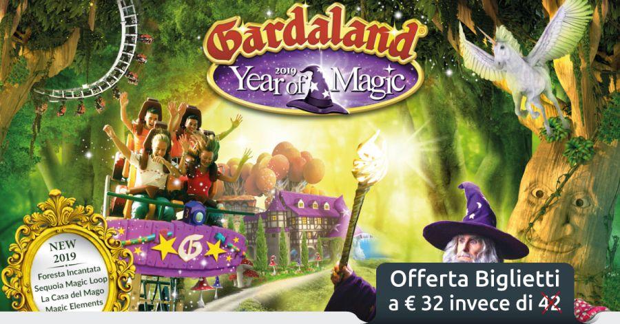 Gardaland Offerte biglietti Gardaland per la stagione 2019 (fino a 10 euro di sconto)