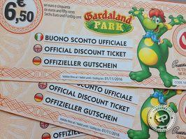 Gardaland - 9 coupon e buoni sconto per risparmiare fino a 11 € sul biglietto