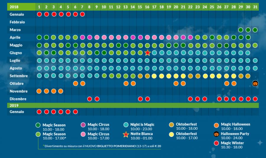 Gardaland Calendario 2020.Calendario Gardaland Calendario 2020